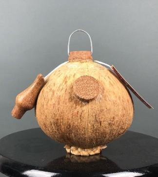 Rượu dừa trái thương nút gỗ có vòi