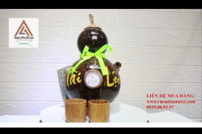 Video rượu dừa Âu Lạc bình hồ lô