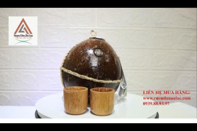 Video rượu dừa Âu Lạc bình sơn bóng